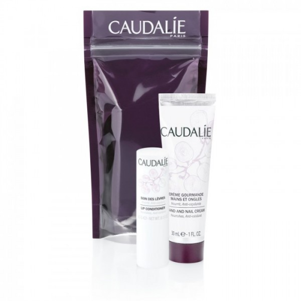 Set caudalie handcream & lip