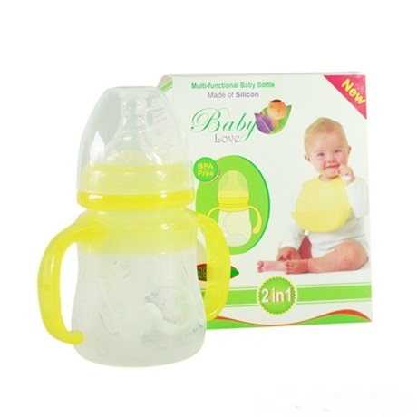 Bình sữa van chống sặc Silicon Baby Love 2in1 150ml