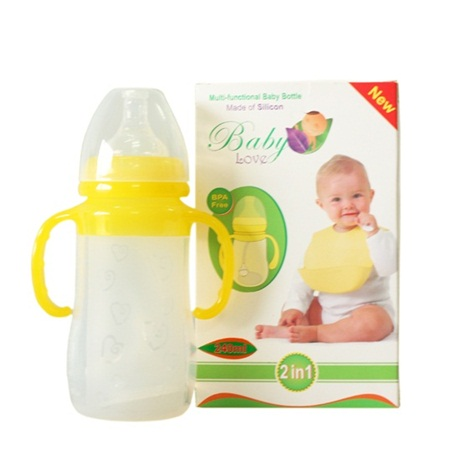 Bình sữa 3in1 BabyLove silicon cổ rộng 250ml