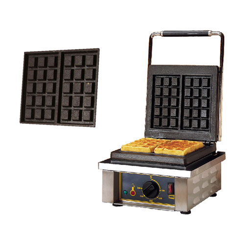 (18-00735) MÁY NƯỚNG BÁNH WAFFLE 305x440x230mm, IRON, BRUSSELS MOULD,1.5KW,220-240V/50HZ/13A PLUG,MCB SUPPLY-20AMP, ROLLER GRILL ==1 YEAR WARRANTY==