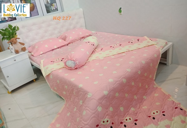 BỘ DRAP COTTON LOVIE HQ 227 -1M6
