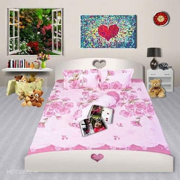 Bộ Drap cotton Poly Lovie PL28