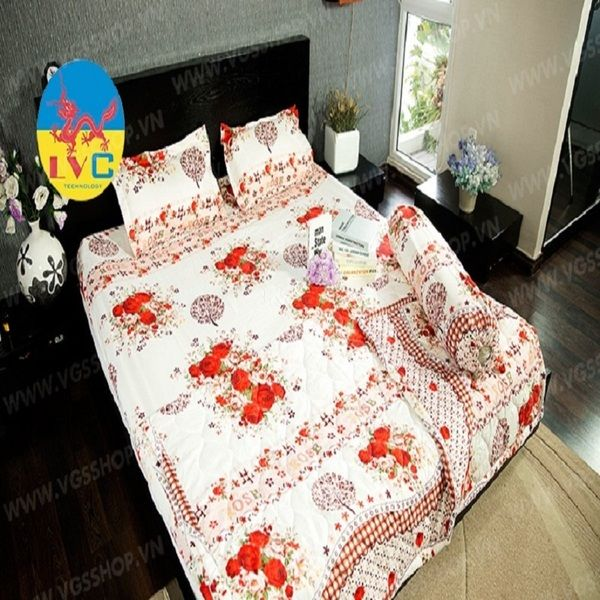 Bộ Drap Mền cotton Poly Lovie PL29