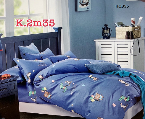 BỘ DRAP COTTON 100% HQ355