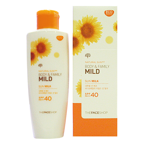NATURAL SUN ECO BODY&FAMILY Mild Sun Milk SPF40