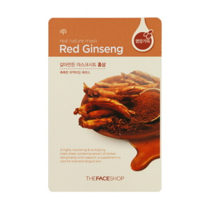Real Nature Red Ginseng Mask Sheet