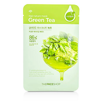 Real Nature Mask Green Tea Mask Sheet (S)