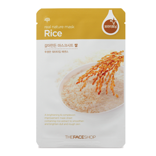 Real Nature Mask Rice Mask Sheet (S)