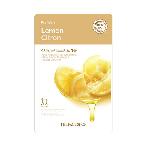 Real Nature Lemon Mask Sheet