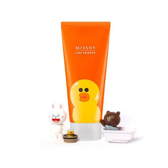 (LINE FRIENDS)Flower Bouquet Cleansing Foam #Iris