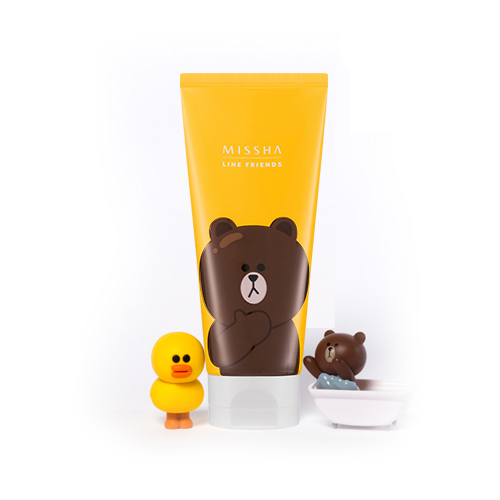 (LINE FRIENDS)Flower Bouquet Cleansing Foam #may lily