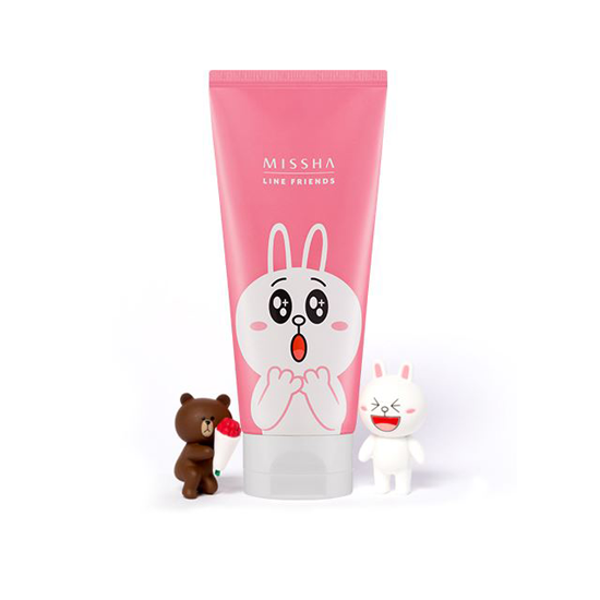 (LINE FRIENDS)Flower Bouquet Cleansing Foam #cherry blossom