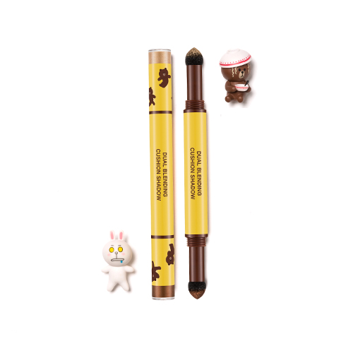 (LINE FRIENDS)DUAL BLENDING CUSHION SHADOW #Amande Chocolat