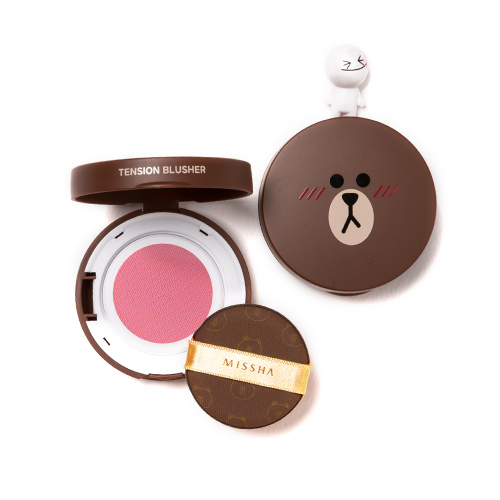 (LINE FRIENDS)TENSION BLUSHER #PK01 pink groove
