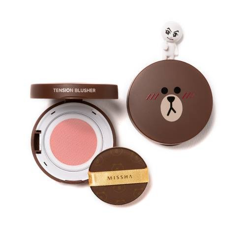 (LINE FRIENDS)TENSION BLUSHER #PK02 pink ruffle