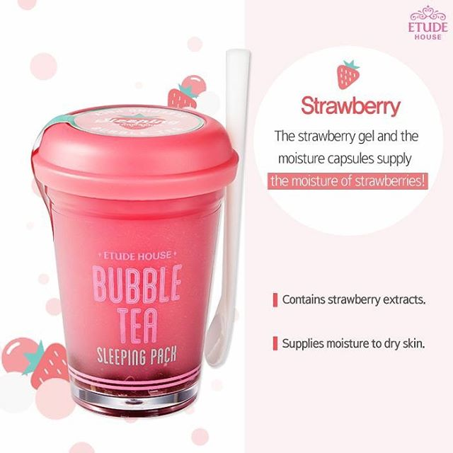 Bubble Tea Sleeping Pack Strawberry
