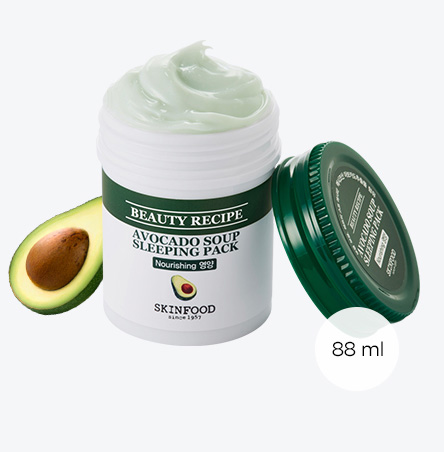Beauty Recipe Avocado Soup Sleeping Pack