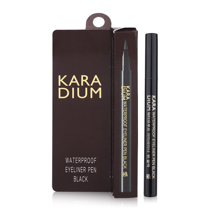 Karadium Waterproof Eyeliner Pen Black (vỏ nâu)