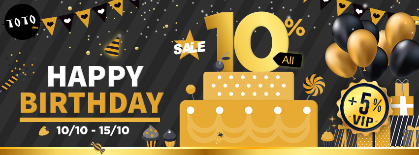 sale birthday 10% all items