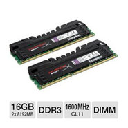 Kingston 16GB 1600MHz DDR3 Non-ECC CL11 DIMM (Kit of 2) XMP Beast Series (KHX16C9T3K2/16X)