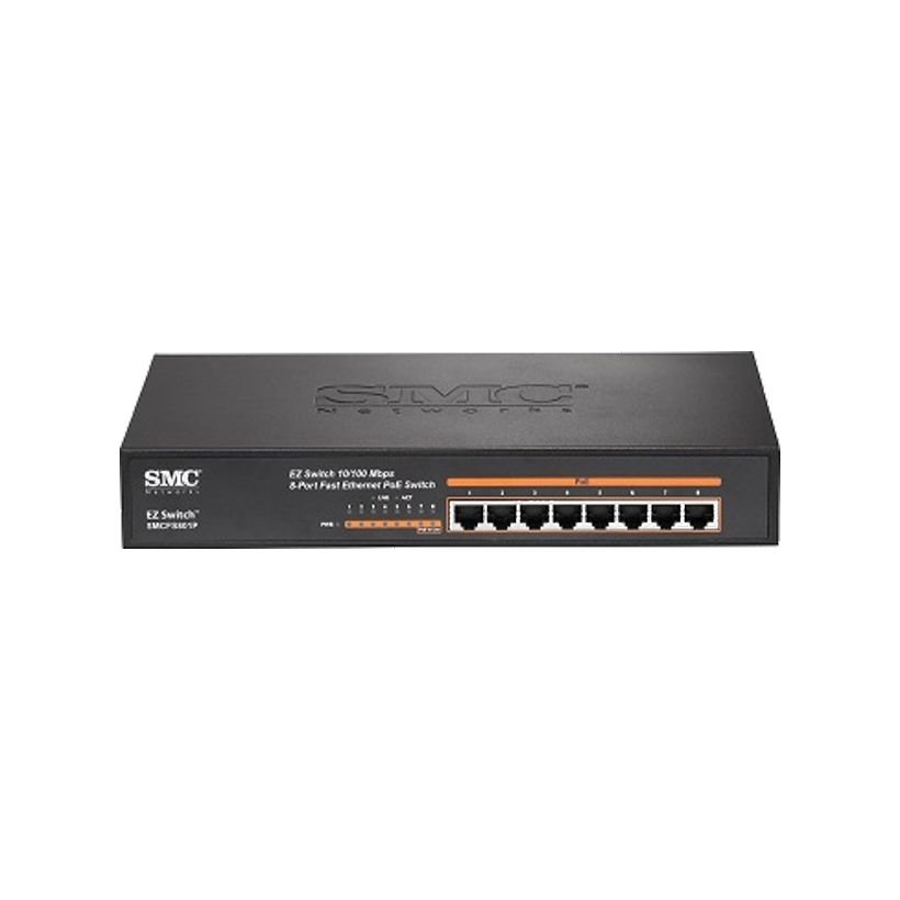 Switch PoE SMC SMCFS801P 10/100Mbps EZ (8 Port)