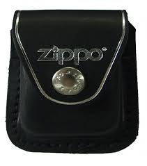 Zippo Bao đựng - Da đen có Loop treo thắt lưng (Black Leather Lighter Pouch LPLB - With Loop)