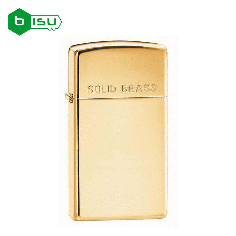 Zippo 1654 - Vỏ Đồng trơn bóng Slim Solid Brass (Slim Solid Brass Pocket Lighter)