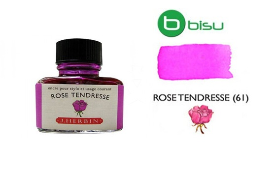 Mực J.Herbin French - 30ml - No.61 - Tím hồng (Rose Tendresse)