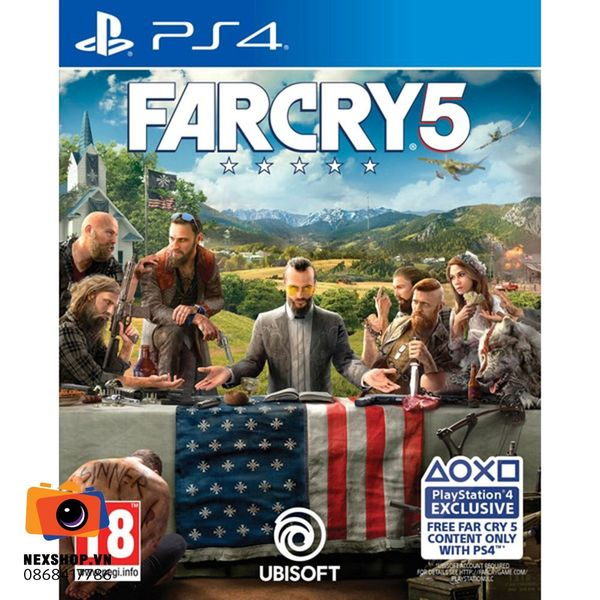 Far Cry 5 | Đĩa Game Sony PS4 | ASIA