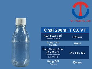 Chai 200ML T CX VT
