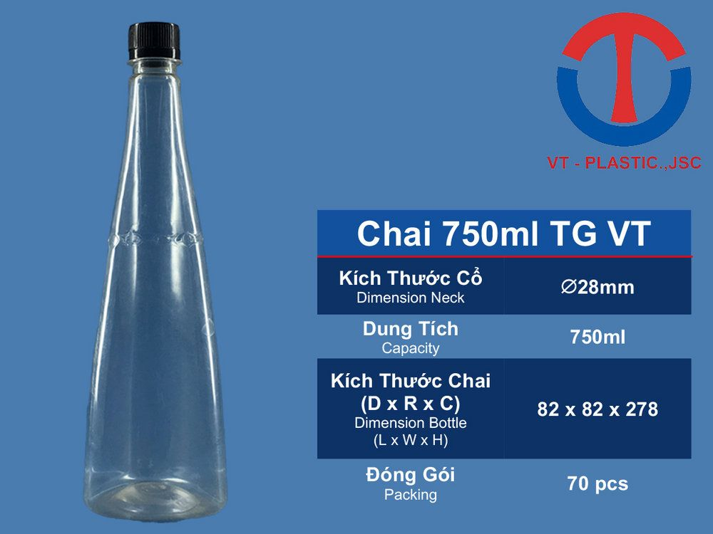 Chai 750ML TG VT