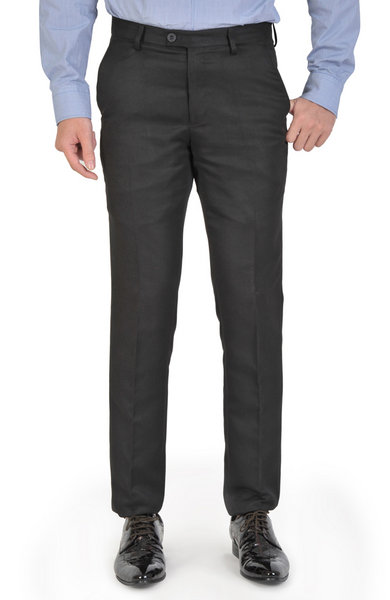 Black Basic Slim Fit Trousers