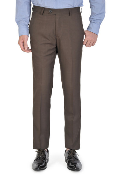 Brown Basic Slim Fit Trousers