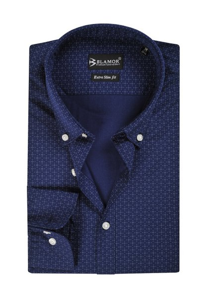 Extra Slim Fit Klein Blue Galaxy Button Down Shirt