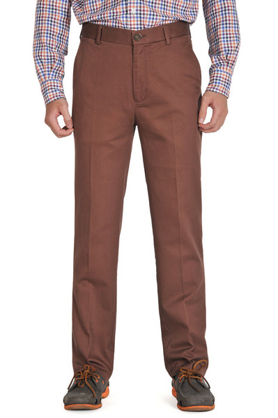 Dark Brown Slim Fit Chinos