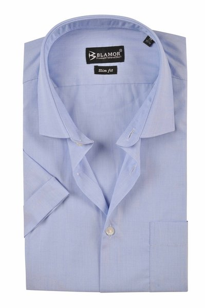 Slim Fit Plain Casper Short Sleeve Shirt
