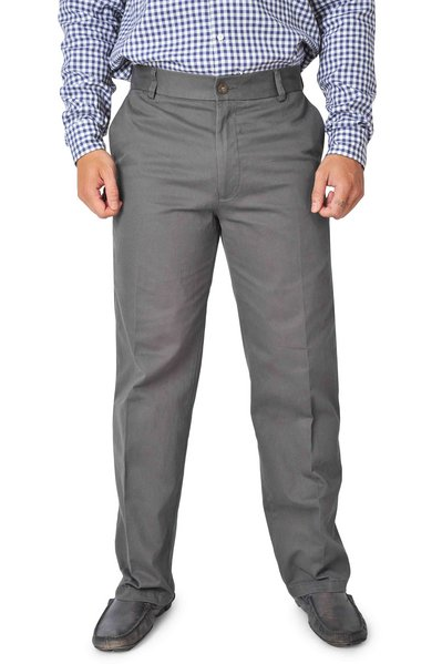 Dark Gray Classic Fit Chinos