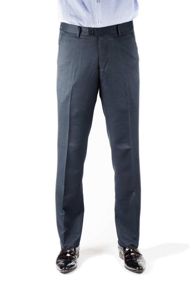 Navy Twill Regular Fit Trousers