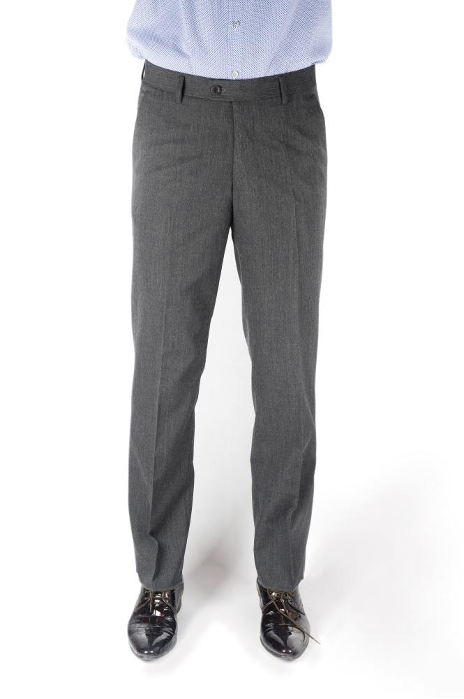 Gray Wool Regular Fit Trousers