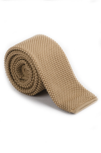 Pale Brown Knitted Tie