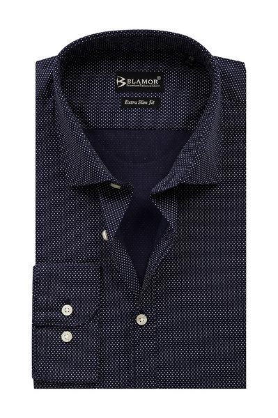 Extra Slim Fit Dark Navy White Point Shirt