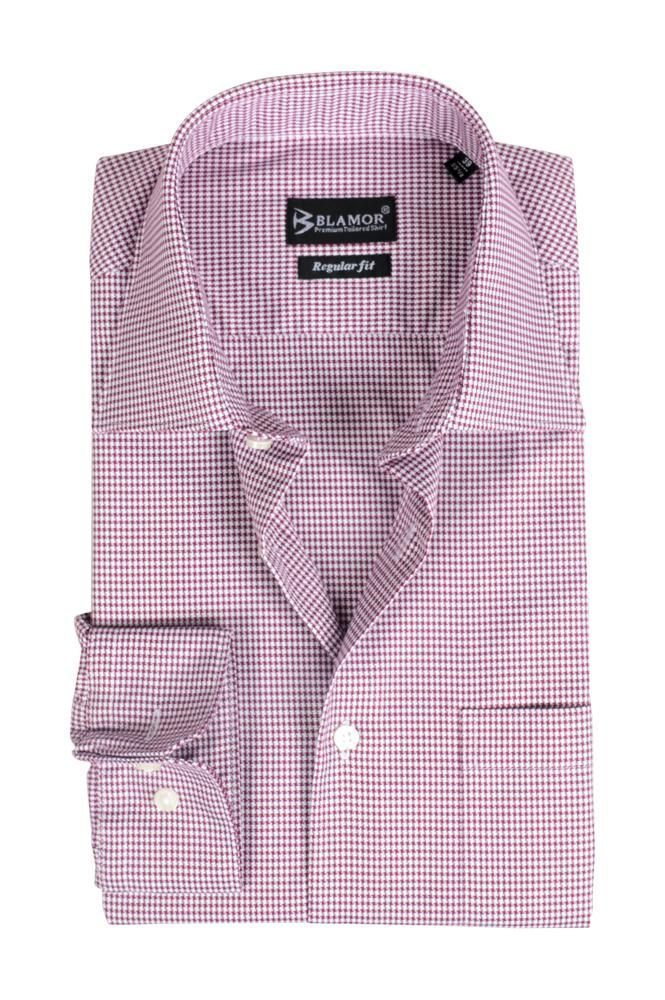 Regular Fit Eggplant Dogtooth Shirt
