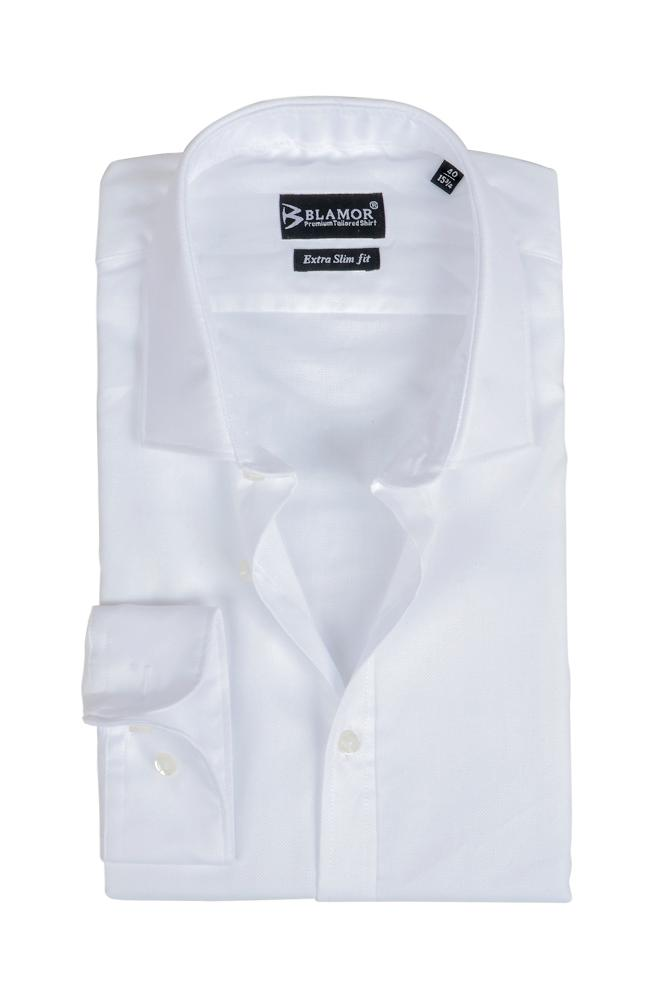 Extra Slim Fit Plain White Oxford Shirt