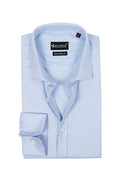 Extra Slim Blue Poplin Shirt