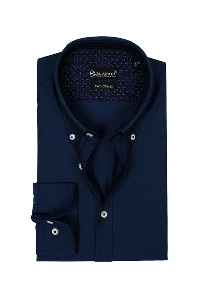 Extra Slim Fit Rich Navy Shirt
