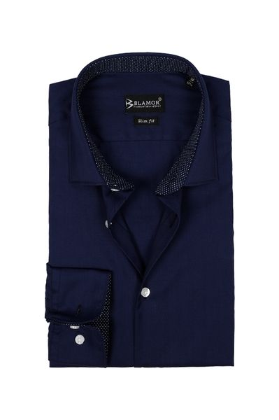 Slim Fit Dark Navy Shirt