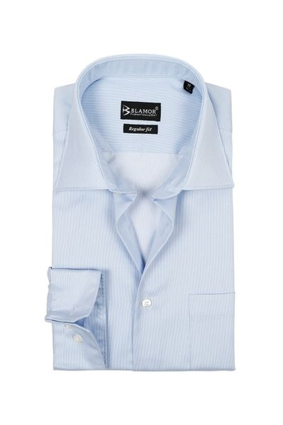 Regular Fit Blue Poplin Shirt