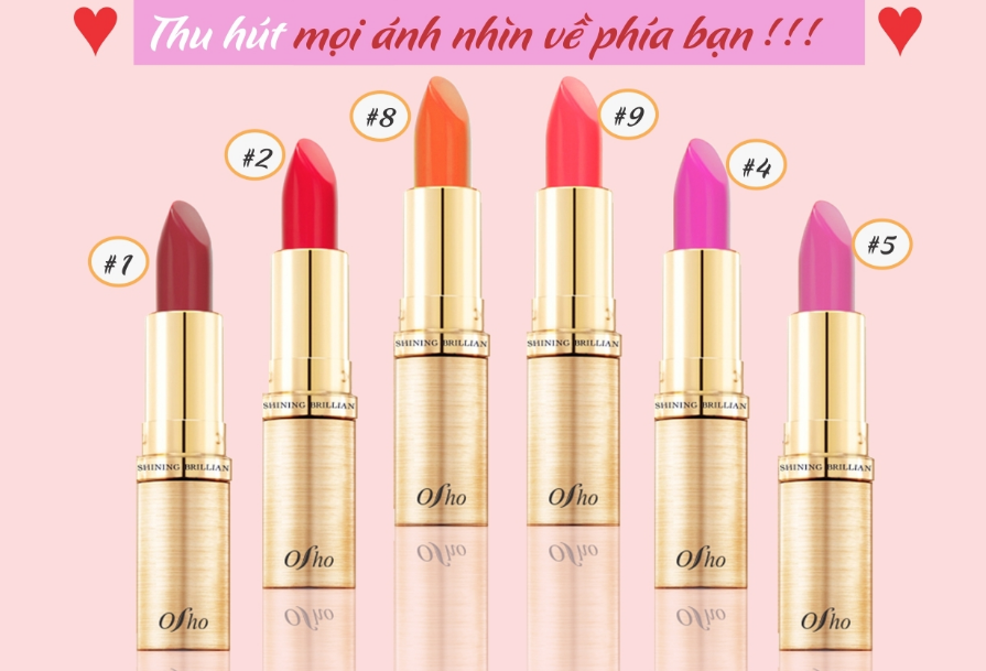 Osho Shinin Brilliance Lipstick Color List