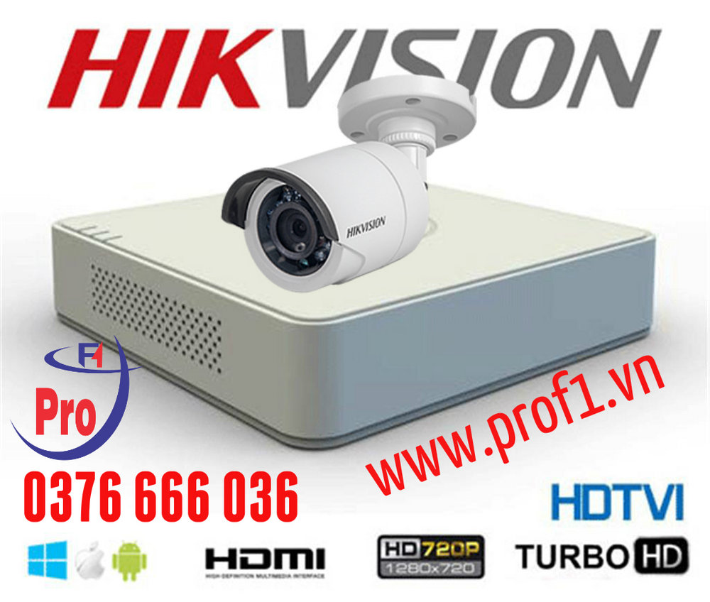 Trọn bộ 01 camera Hikvision Ds-2CE16COT-IR 1.0Mp