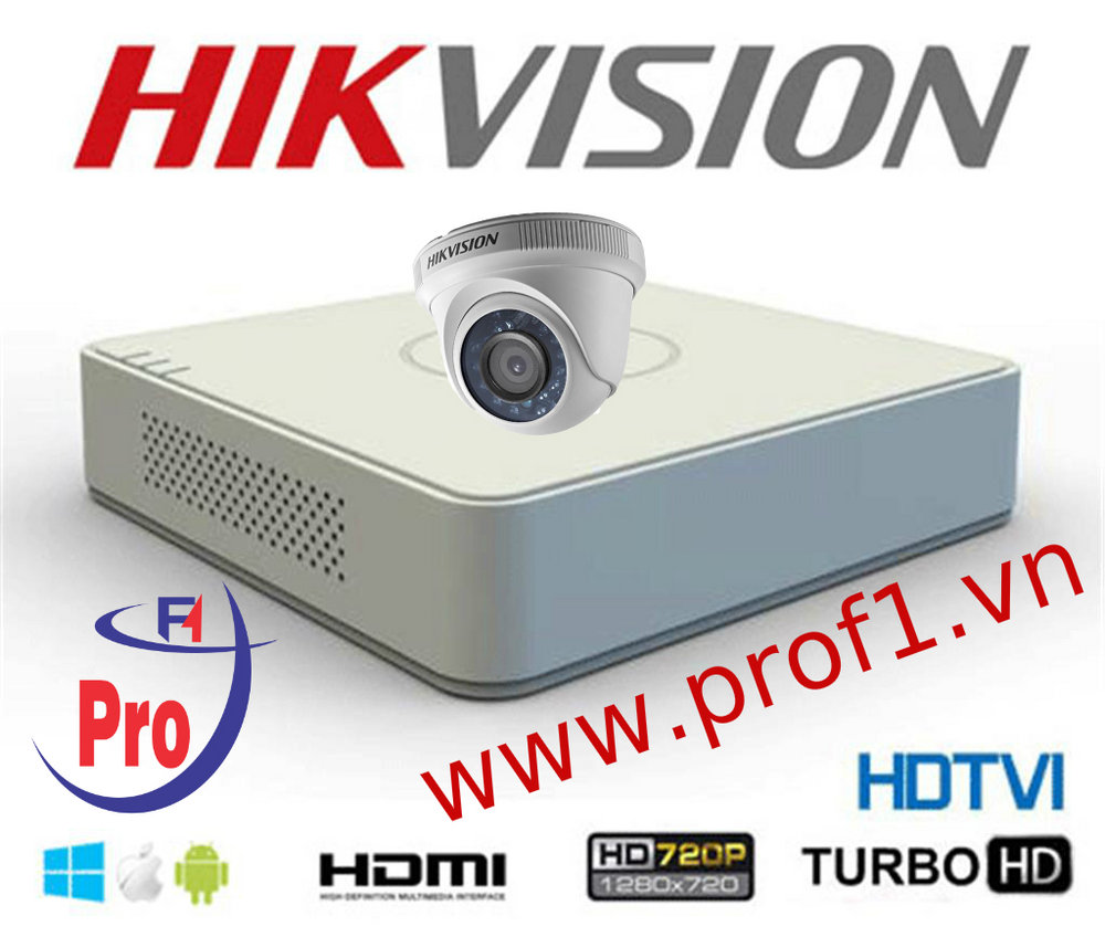 Trọn bộ 01 camera Hikvision Ds-2CE56COT-IR 1.0Mp